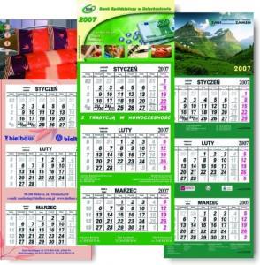 wydruk kalendarzy